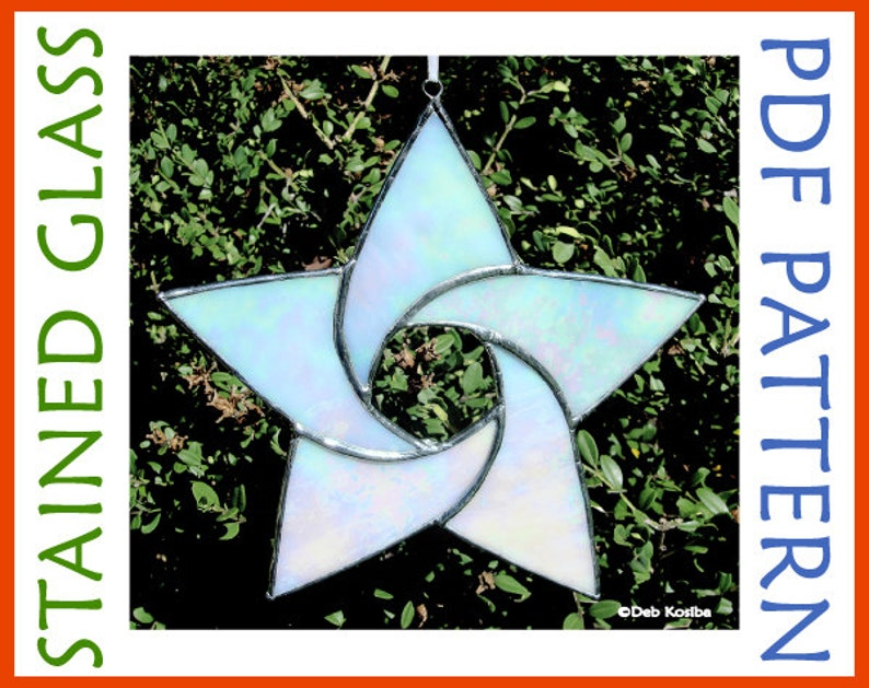 bdfcaddf92591a Easy Stained Glass Star Pattern   5 Point Star Suncatcher PDF