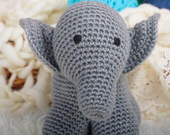 Gray Stuffed Elephant Toy