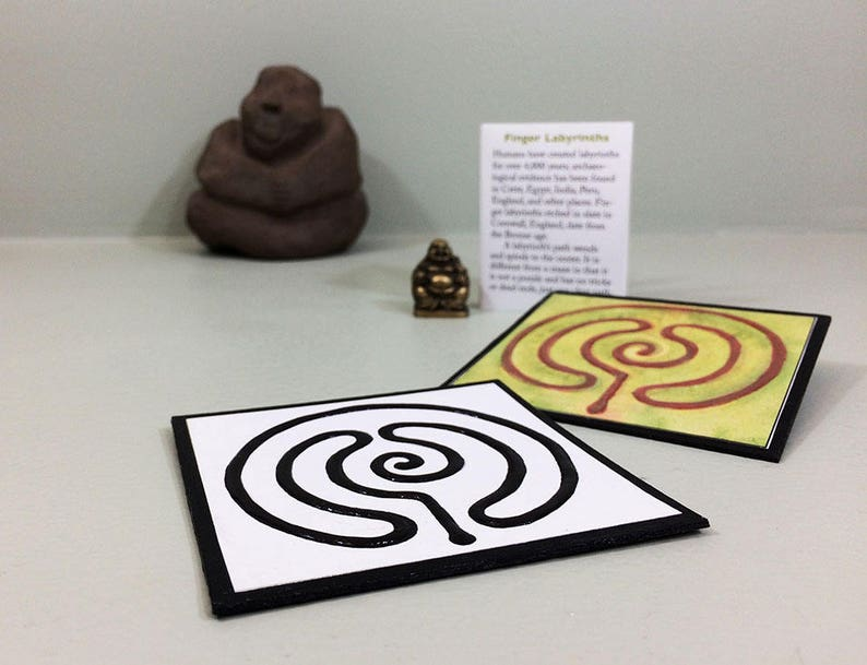 image relating to Finger Labyrinth Printable called Do-it-yourself finger labyrinth. Printable obtain of a mini labyrinth booklet with recommendations. Selfmade reward. Trainer present. Mindfulness reward.