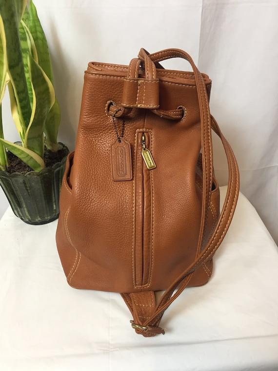 Vintage Coach Sonoma British Tan Backpack Circa 1… - image 4
