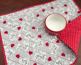 Cat Pet Placemat Quilted