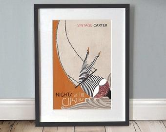 Nights At The Circus Print / Circus Poster / Circus Art / Retro Circus / Book Lover Gifts / Literary Gifts / A3 Print