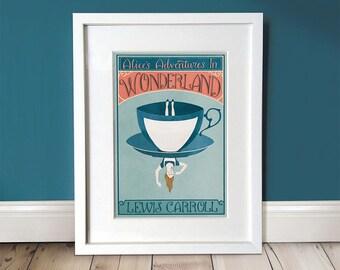 Alice In Wonderland Wall Art / Alice In Wonderland Print / A3 Art Print / Gift Idea / Wall Art / Wall Décor / Literary Gift / Home Decor