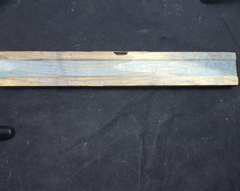 Antique Spirit Level Tool Wood and Metal Early 1900's - 1920's Original Wooden Painted 12 Inch