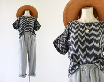 hand woven cotton top - s