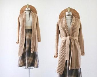 merino + cashmere belted cardigan - s