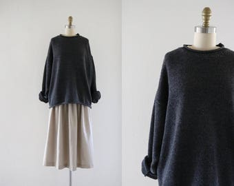 charcoal slouch sweater