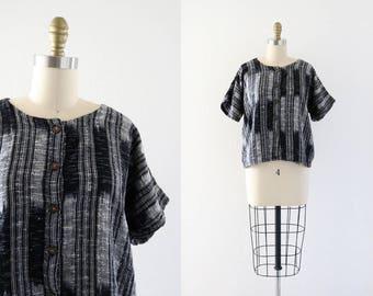 woven boxy blouse