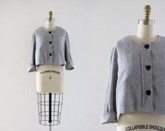 boxy crop top / jacket