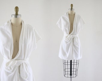 terry beach robe / cover up
