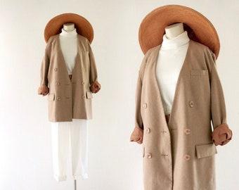 camel wool jacket - 8