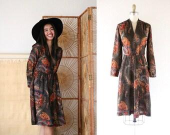 1091e5ba70 70 s sheer floral dress   m