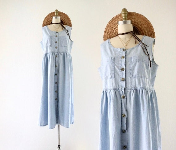 chambray market dress - m