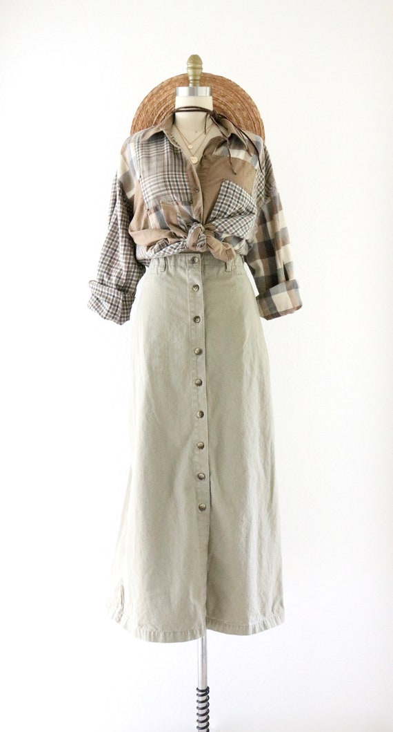 button maxi skirt - l - image 2