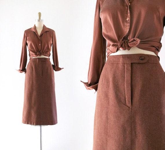 rust wool skirt - 27