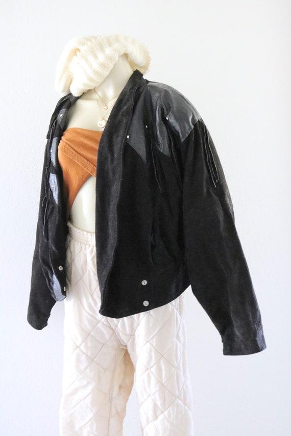 suede fringe jacket - image 4
