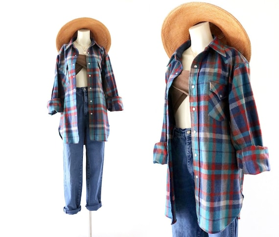 wool flannel shirt-jacket - image 1