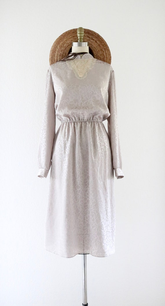 silky lace front dress - image 3