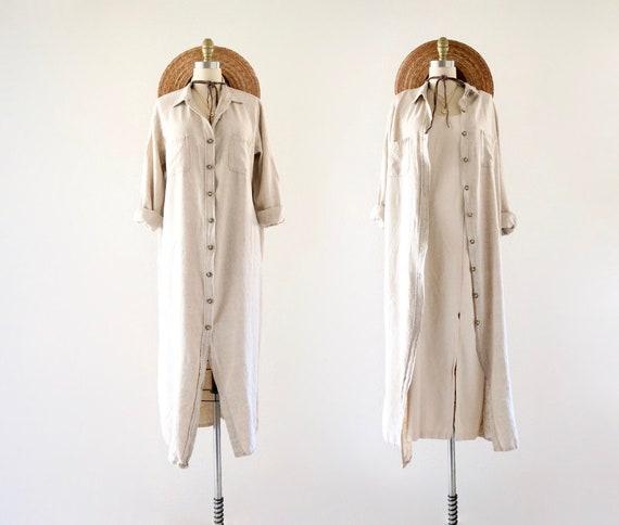 linen dress-duster - m