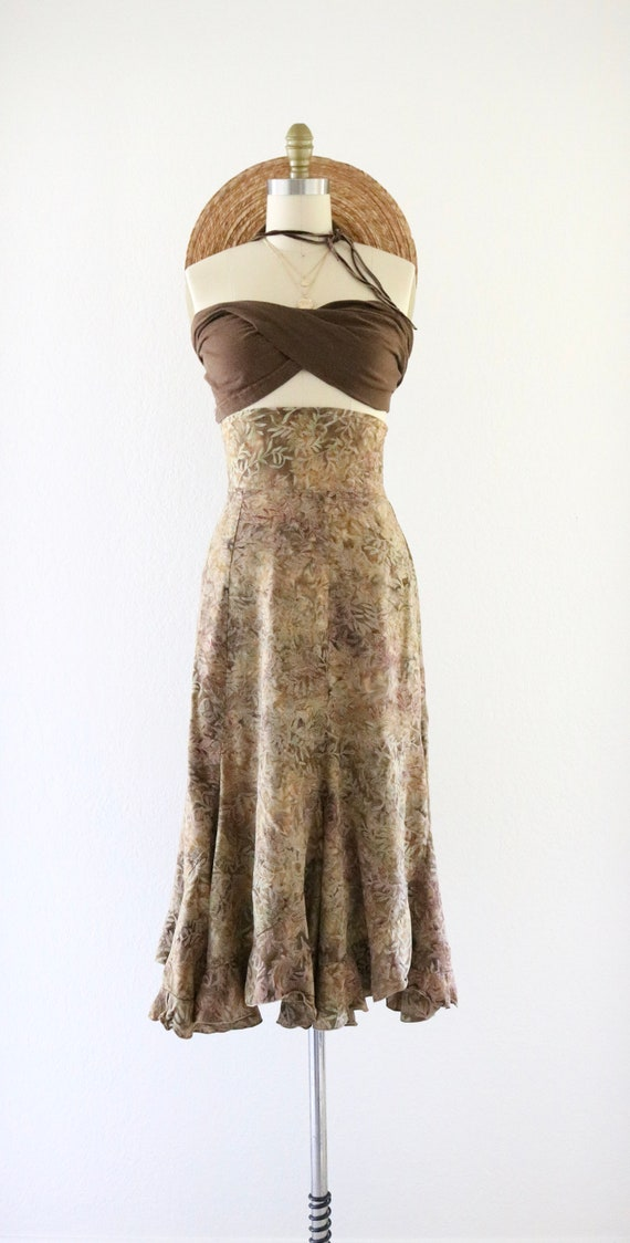 high waisted foliage skirt - xs - image 2
