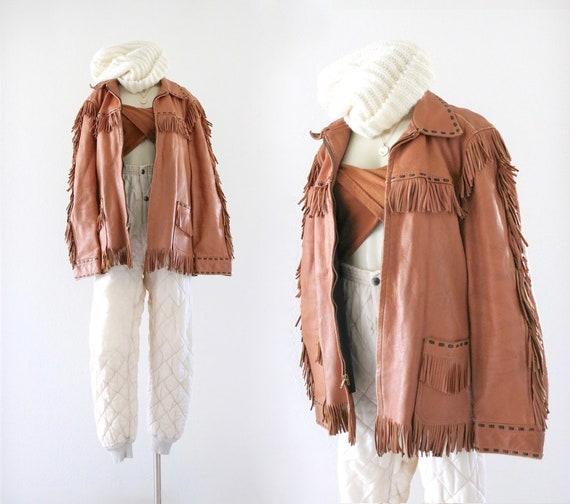 1970's leather fringe jacket