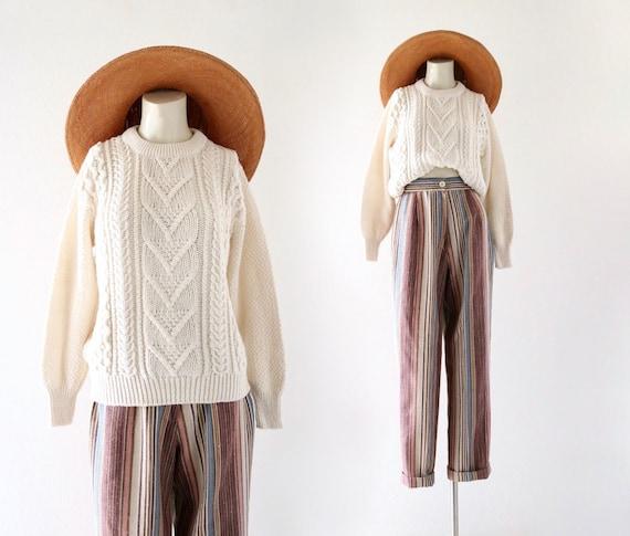 cotton fisherman sweater- s