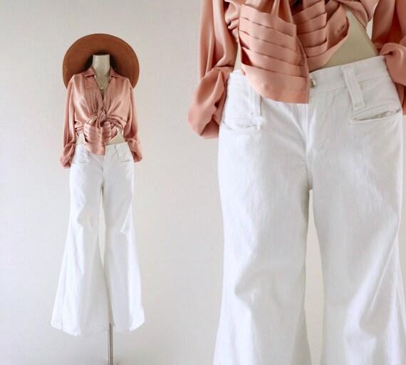 70's wrangler blanco jeans - xs