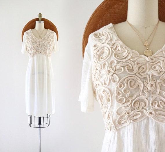 ribbon appliqué dress - s