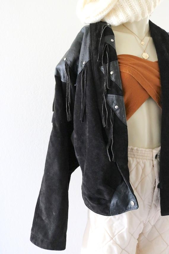 suede fringe jacket - image 3