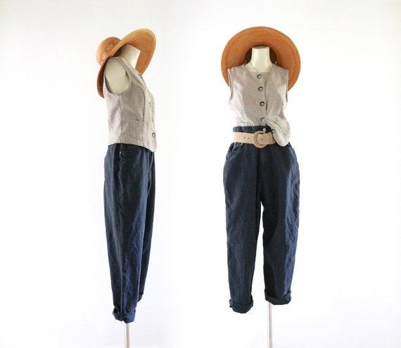 linen trousers - 28
