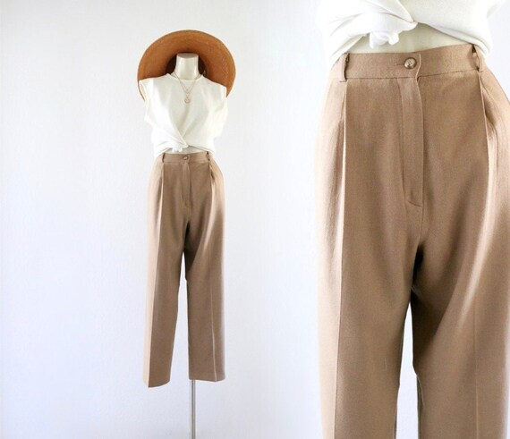 golden wool trousers - 31