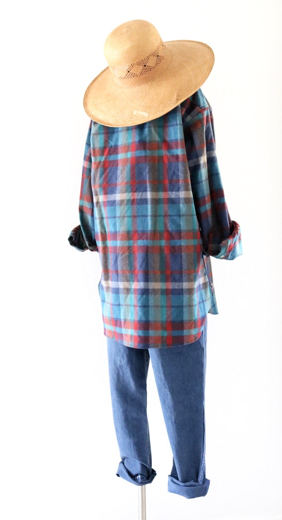 wool flannel shirt-jacket - image 5