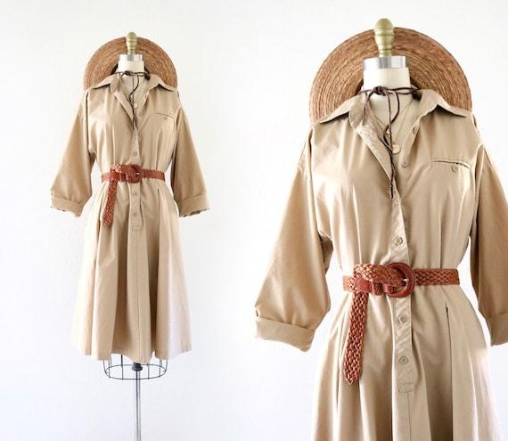 tan chore dress - xs/s