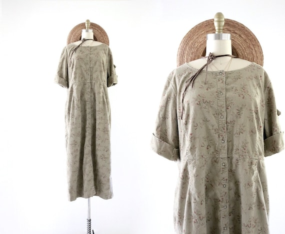 corduroy market dress - xl