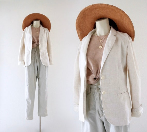 linen jacket - s