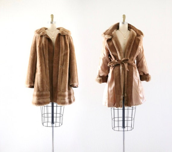 60's faux fur teddy bear coat