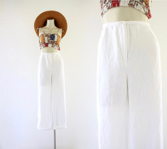 blanco linen trousers - 12