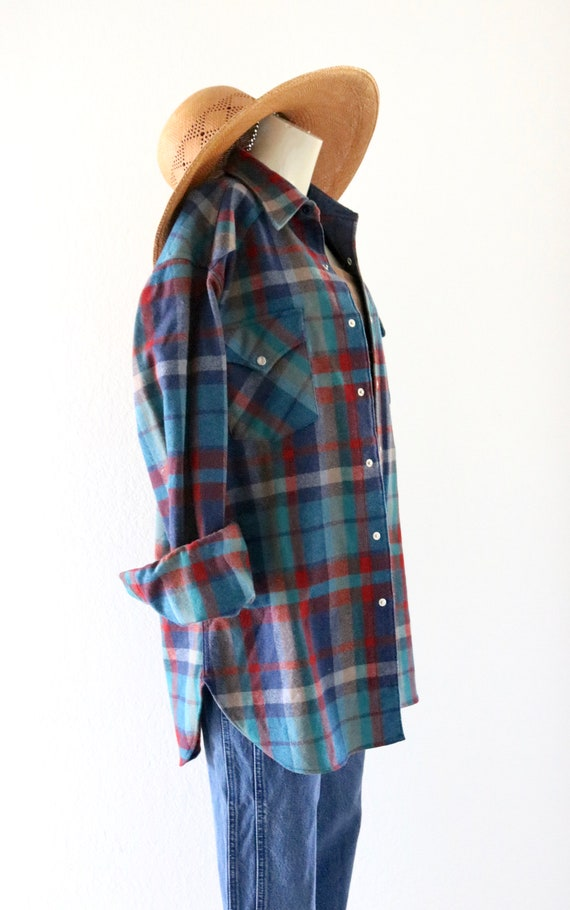 wool flannel shirt-jacket - image 4