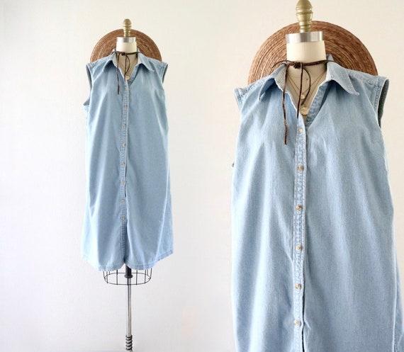easy oversized denim dress