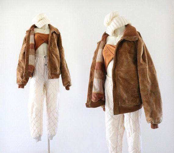worrrn oversized suede bomber jacket
