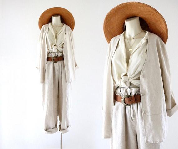 linen studio jacket