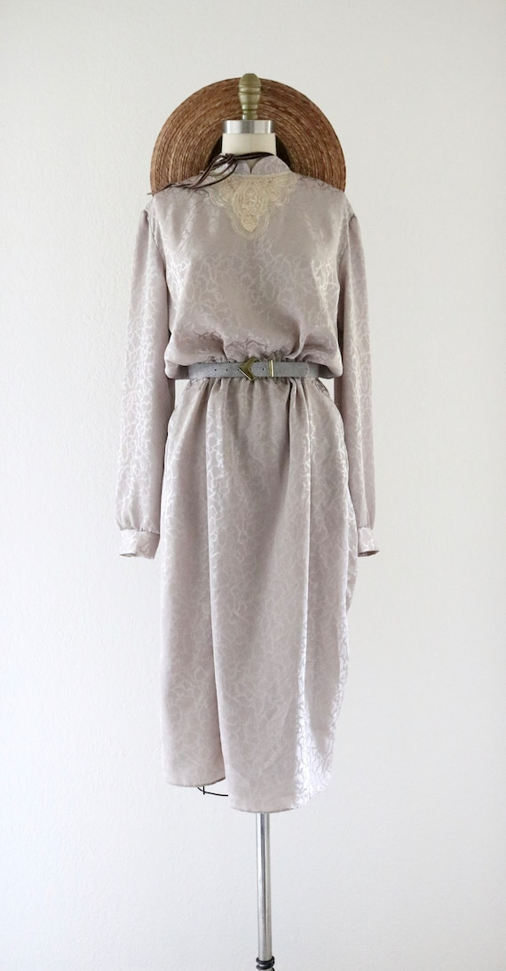 silky lace front dress - image 6