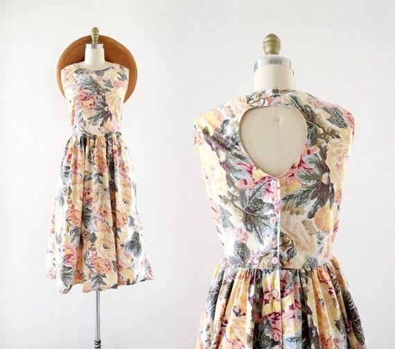 botanical keyhole dress - s