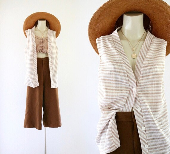 stripe button tunic - m
