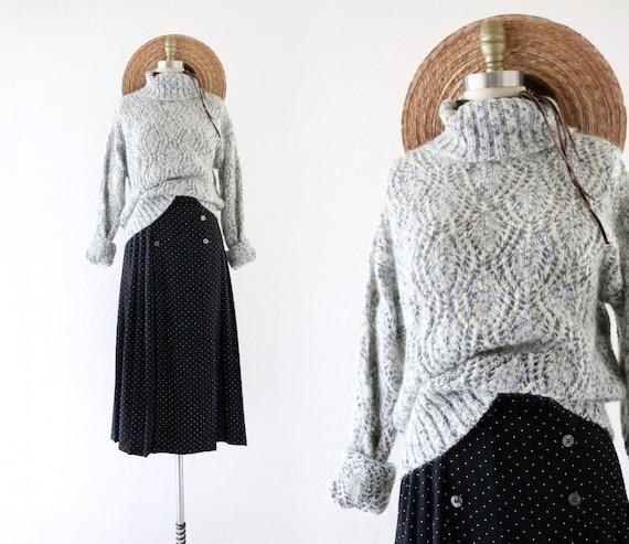 mohair turtleneck sweater - s