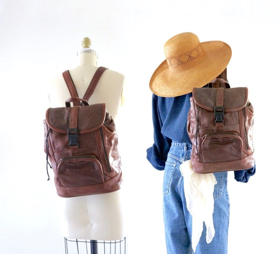 bomber leather backpack