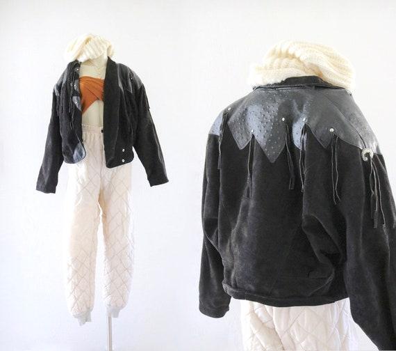 suede fringe jacket - image 1