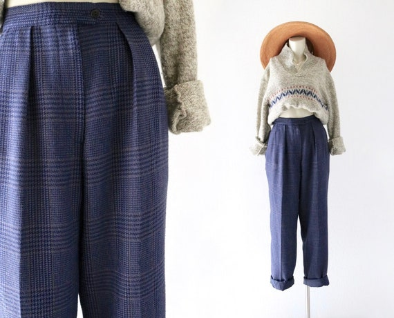 micro houndstooth trousers  - 29