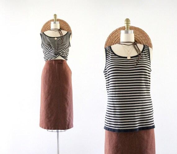 striped knit - m