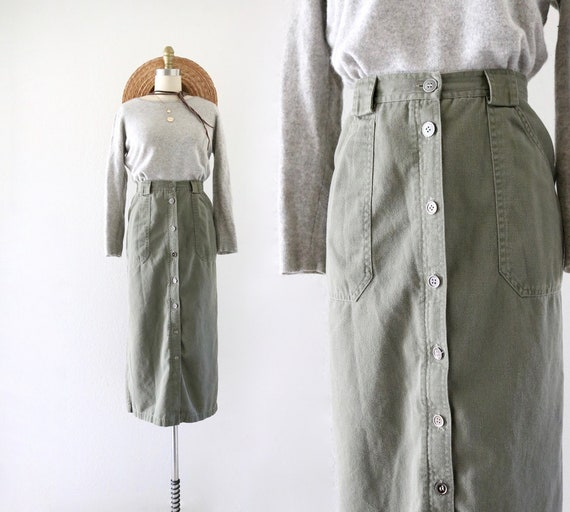 olive button skirt - 27